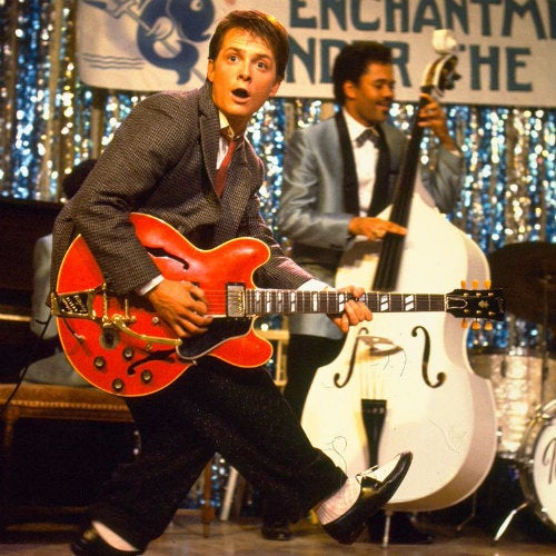 "Marty McFly ""invents"" rock 'n' roll in ""Back to the Future"""