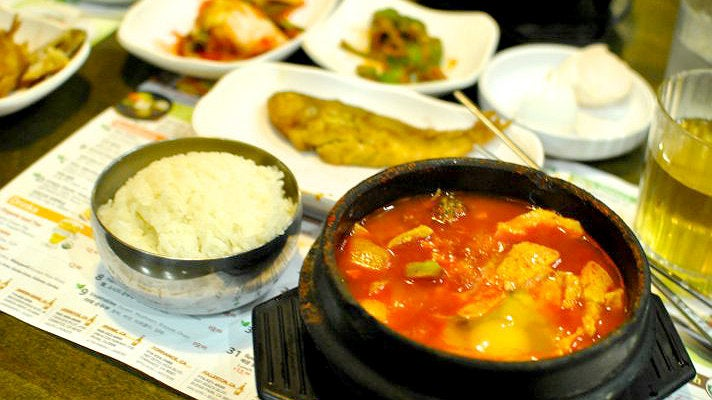 BCD Tofu with banchan