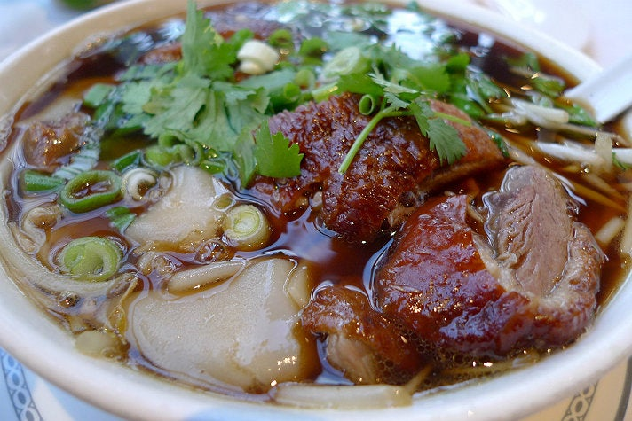 Duck noodle soup at Saladang Song