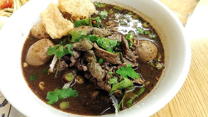 Beef boat noodles at Sapp Coffee Shop